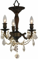 Worldwide W33302F13-GT Windsor Flemish Brass Flush Mount Ceiling Light Fixture