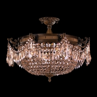 Worldwide W33354B24-GT Winchester Antique Bronze Finish 24  Wide Overhead Lighting Fixture