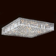 Worldwide W33520C24 Cascade Polished Chrome 24  Flush Lighting