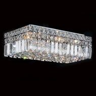 Worldwide W33528C16 Cascade Polished Chrome 16  Flush Mount Lighting