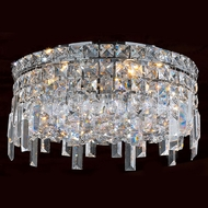 Worldwide W33606C14 Cascade Polished Chrome 14  Flush Ceiling Light Fixture
