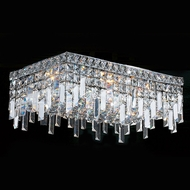 Worldwide W33629C20 Cascade Polished Chrome 20  Flush Lighting