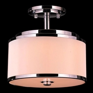 Worldwide W33951C12 Madeline Polished Chrome LED Flush Mount Lighting
