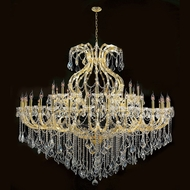 Worldwide W83001G72 Maria Theresa Polished Gold Clear 72  Chandelier Lighting