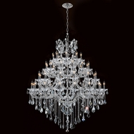 Worldwide W83002C46 Maria Theresa Polished Chrome Clear 46  Lighting Chandelier