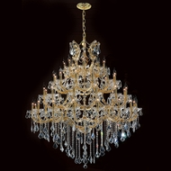 Worldwide W83002G46 Maria Theresa Polished Gold Clear 46  Chandelier Lamp