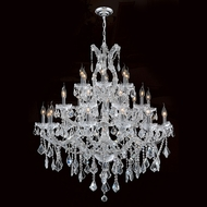 Worldwide W83003C38 Maria Theresa Polished Chrome Clear 38  Chandelier Light