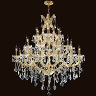 Worldwide W83003G38 Maria Theresa Polished Gold Clear 38  Hanging Chandelier