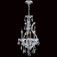 Worldwide W83004C12 Maria Theresa Polished Chrome Clear Mini Chandelier Light