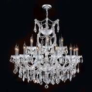 Worldwide W83005C30 Maria Theresa Polished Chrome Clear 30  Chandelier Lighting