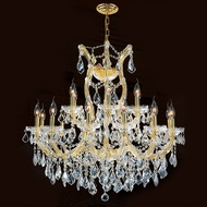 Worldwide W83005G30 Maria Theresa Polished Gold Clear 30  Chandelier Lamp
