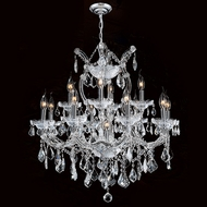 Worldwide W83006C27 Maria Theresa Polished Chrome Clear 27  Chandelier Light