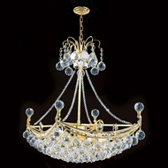 Worldwide W83025G24 Empire Polished Gold Clear 24 Hanging Lamp