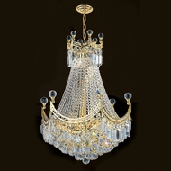 Worldwide W83026G20 Empire Polished Gold Clear 20 Hanging Pendant Light