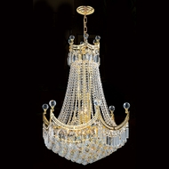 Worldwide W83026G24 Empire Polished Gold Clear 24 Pendant Hanging Light
