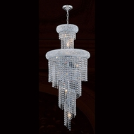 Worldwide W83029C16 Empire Polished Chrome Clear Foyer Lighting