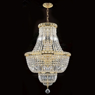 Worldwide W83032G18 Empire Polished Gold Clear Ceiling Pendant Light