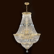 Worldwide W83032G22 Empire Polished Gold Clear Drop Ceiling Light Fixture