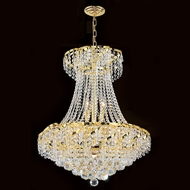 Worldwide W83034G22 Empire Polished Gold Clear 22 Lighting Pendant