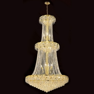 Worldwide W83036G36 Empire Polished Gold Clear 36  Foyer Lighting Fixture