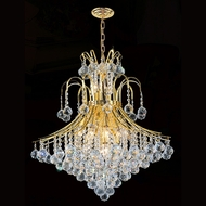 Worldwide W83040G25 Empire Polished Gold Clear Lighting Chandelier