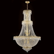 Worldwide W83047G30 Empire Polished Gold Clear 30 Pendant Light Fixture