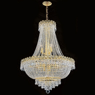 Worldwide W83048G24 Empire Polished Gold Clear 24 Hanging Pendant Lighting