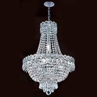 Worldwide W83049C16 Empire Polished Chrome Clear 16 Hanging Pendant Light