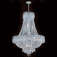 Worldwide W83049C20 Empire Polished Chrome Clear 20 Pendant Hanging Light