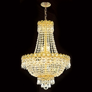 Worldwide W83049G16 Empire Polished Gold Clear 16 Hanging Light Fixture