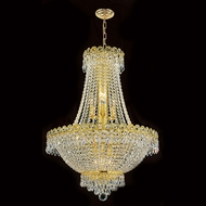 Worldwide W83049G20 Empire Polished Gold Clear 20 Drop Lighting