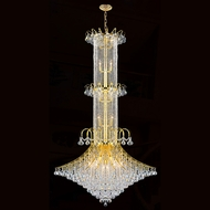 Worldwide W83050G44 Empire Polished Gold Clear Foyer Light Fixture