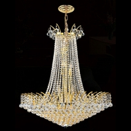 Worldwide W83053G29 Empire Polished Gold Clear 29  Pendant Light Fixture