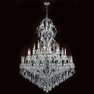 Worldwide W83067C52 Maria Theresa Polished Chrome Clear 52  Chandelier Light