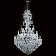 Worldwide W83067C65 Maria Theresa Polished Chrome Clear 65  Chandelier Lighting