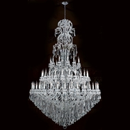 Worldwide W83067C78 Maria Theresa Polished Chrome Clear 78  Lighting Chandelier