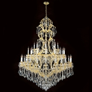 Worldwide W83067G52 Maria Theresa Polished Gold Clear 52  Chandelier Lamp