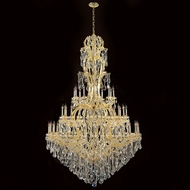 Worldwide W83067G65 Maria Theresa Polished Gold Clear 65  Chandelier Light