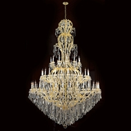 Worldwide W83067G78 Maria Theresa Polished Gold Clear 78  Ceiling Chandelier