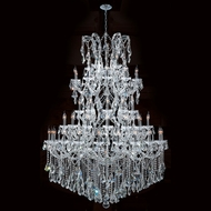 Worldwide W83068C54 Maria Theresa Polished Chrome Clear 54  Hanging Chandelier
