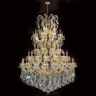 Worldwide W83068G54 Maria Theresa Polished Gold Clear 54  Chandelier Light