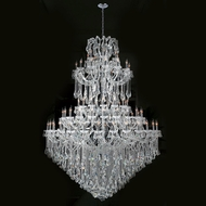 Worldwide W83069C72 Maria Theresa Polished Chrome Clear 72  Chandelier Lighting
