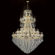 Worldwide W83069G72 Maria Theresa Polished Gold Clear 72  Lighting Chandelier