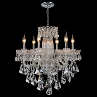 Worldwide W83090C25 Olde World Polished Chrome Clear 25  Chandelier Lamp