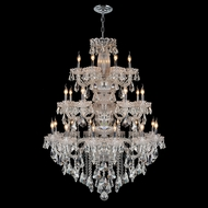 Worldwide W83094C42 Olde World Polished Chrome Clear 42  Ceiling Chandelier