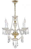 Worldwide W83095G23 Provence Polished Gold Finish 25  Tall Ceiling Chandelier