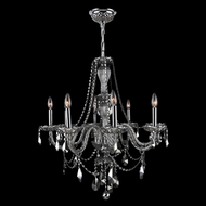Worldwide W83097C28-CH Provence Polished Chrome Finish 28  Wide Hanging Chandelier