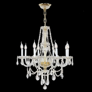 Worldwide W83097G28 Provence Polished Gold Clear 28  Chandelier Lamp