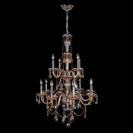 Worldwide W83098C28-AM Provence Polished Chrome Amber 28  Chandelier Light