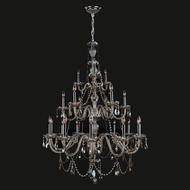 Worldwide W83099C38-GT Provence Polished Chrome Golden Teak 38  Chandelier Light